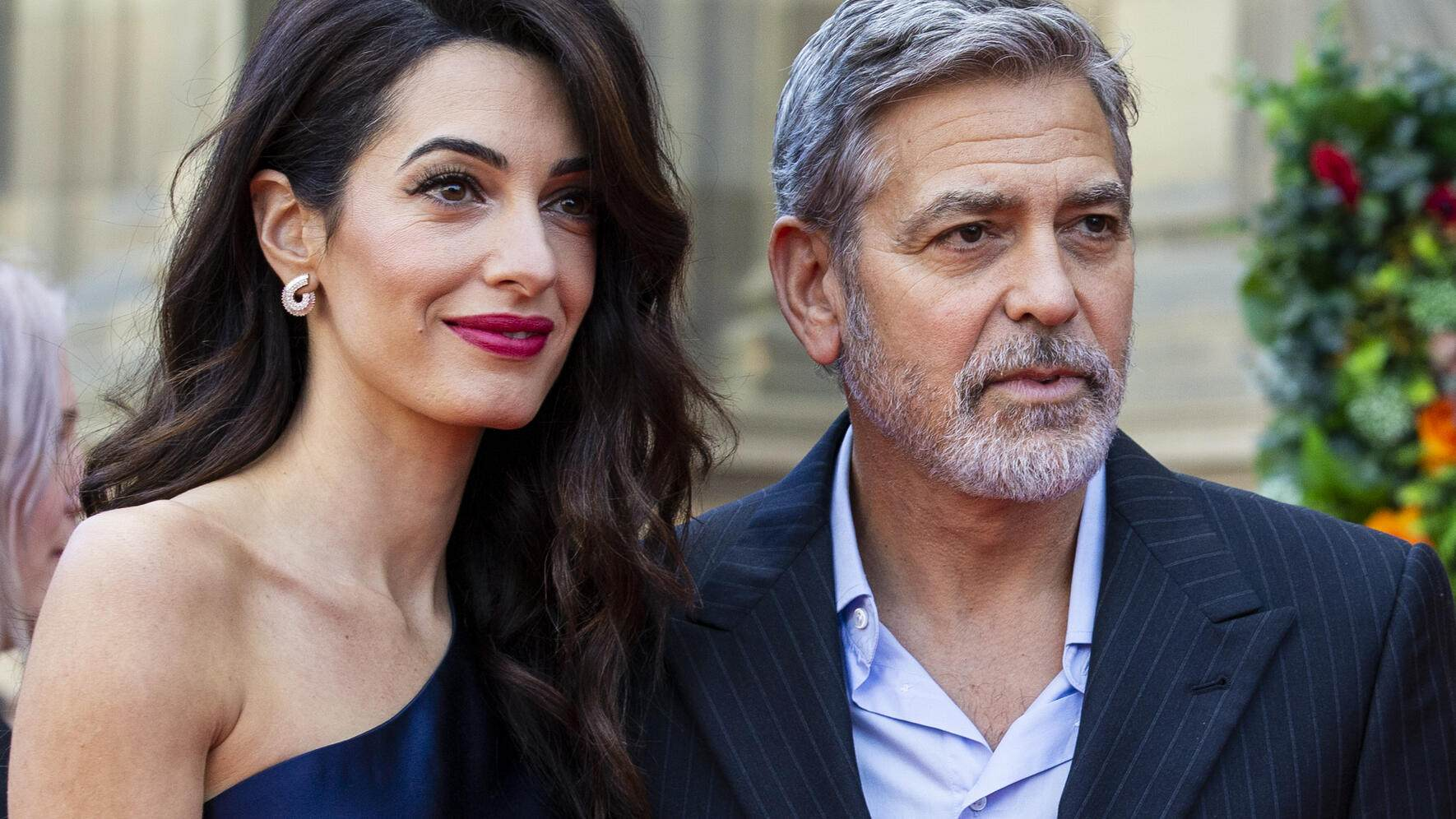 EDINBURGH, SCOTLAND - MARCH 14: George and Amal Clooney attend the People's Postcode Lottery Charity Gala at McEwan Hall on March 15, 2019 in Edinburgh, Scotland. The couple will be honoured for their international humanitarian work through the Clooney Foundation for Justice. (Photo by Duncan McGlynn/Getty Images)