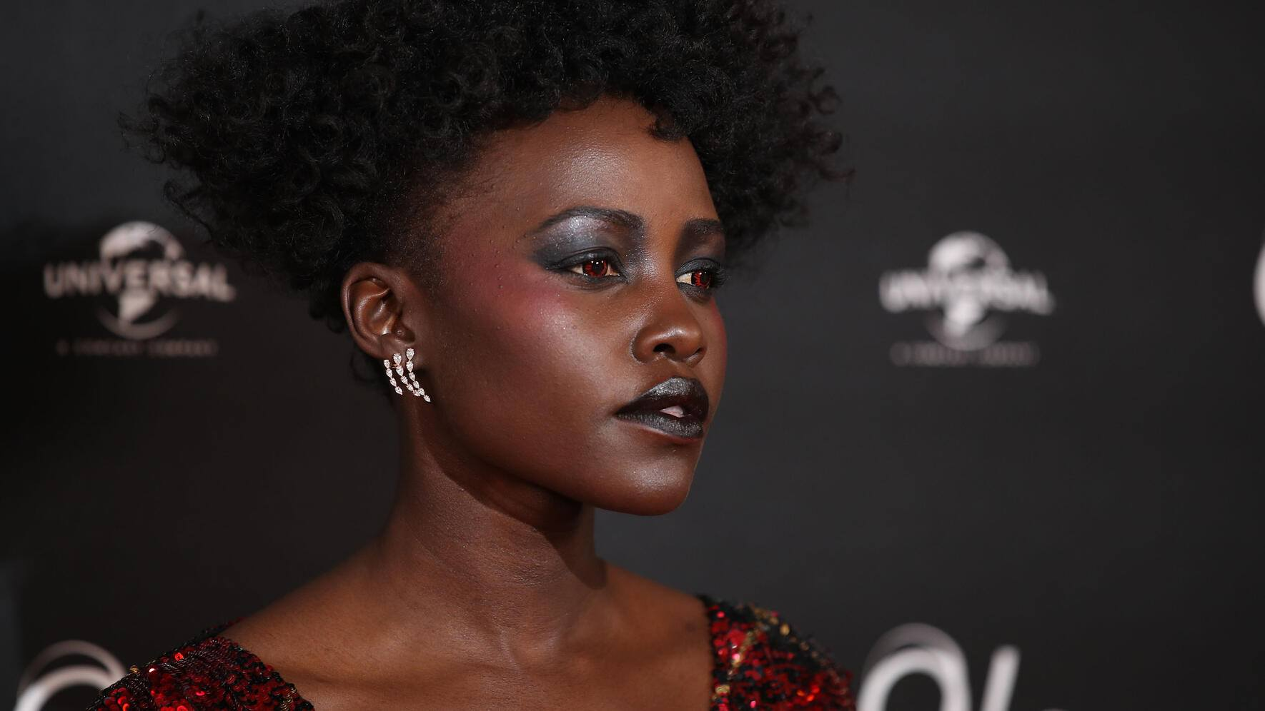 LONDON, ENGLAND - MARCH 14: Lupita Nyong'o attends the screening of 'Us' at Picturehouse Central on March 14, 2019 in London, England. (Photo by Mike Marsland/Mike Marsland/WireImage)