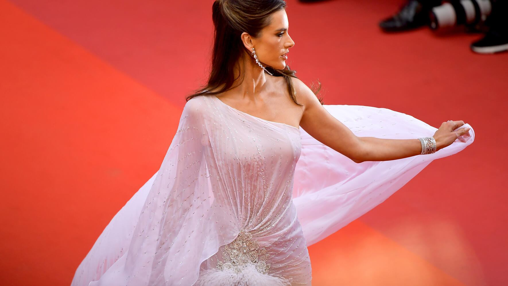 """CANNES, FRANCE - MAY 14: Alessandra Ambrosio attends the opening ceremony and screening of """"The Dead Don't Die"""" during the 72nd annual Cannes Film Festival on May 14, 2019 in Cannes, France. (Photo by Matt Winkelmeyer/Getty Images)"""