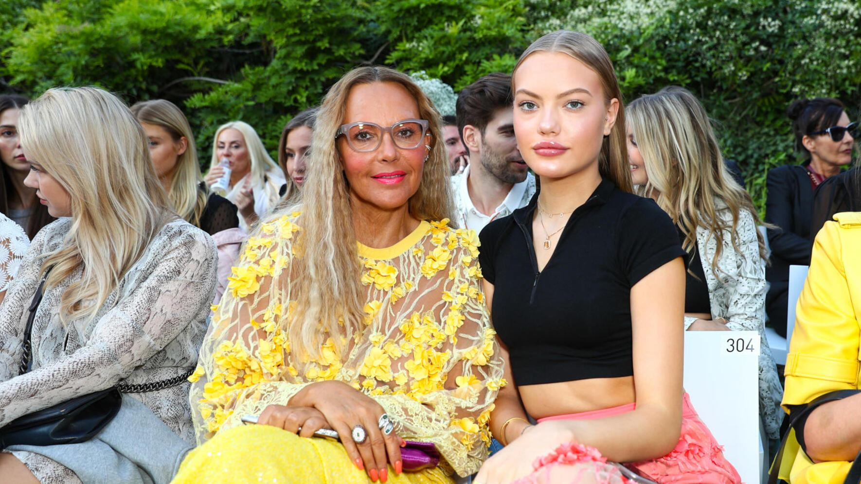 BERLIN, GERMANY - JULY 03: Cheyenne Savannah Ochsenknecht and Natascha Ochsenknecht at the Marcel Ostertag Fashion Show during the Berlin Fashion Week Spring/Summer 2020 at Westin Grand Hotel on July 03, 2019 in Berlin, Germany. (Photo by Brian Dowling/Getty Images for Marcel Ostertag )