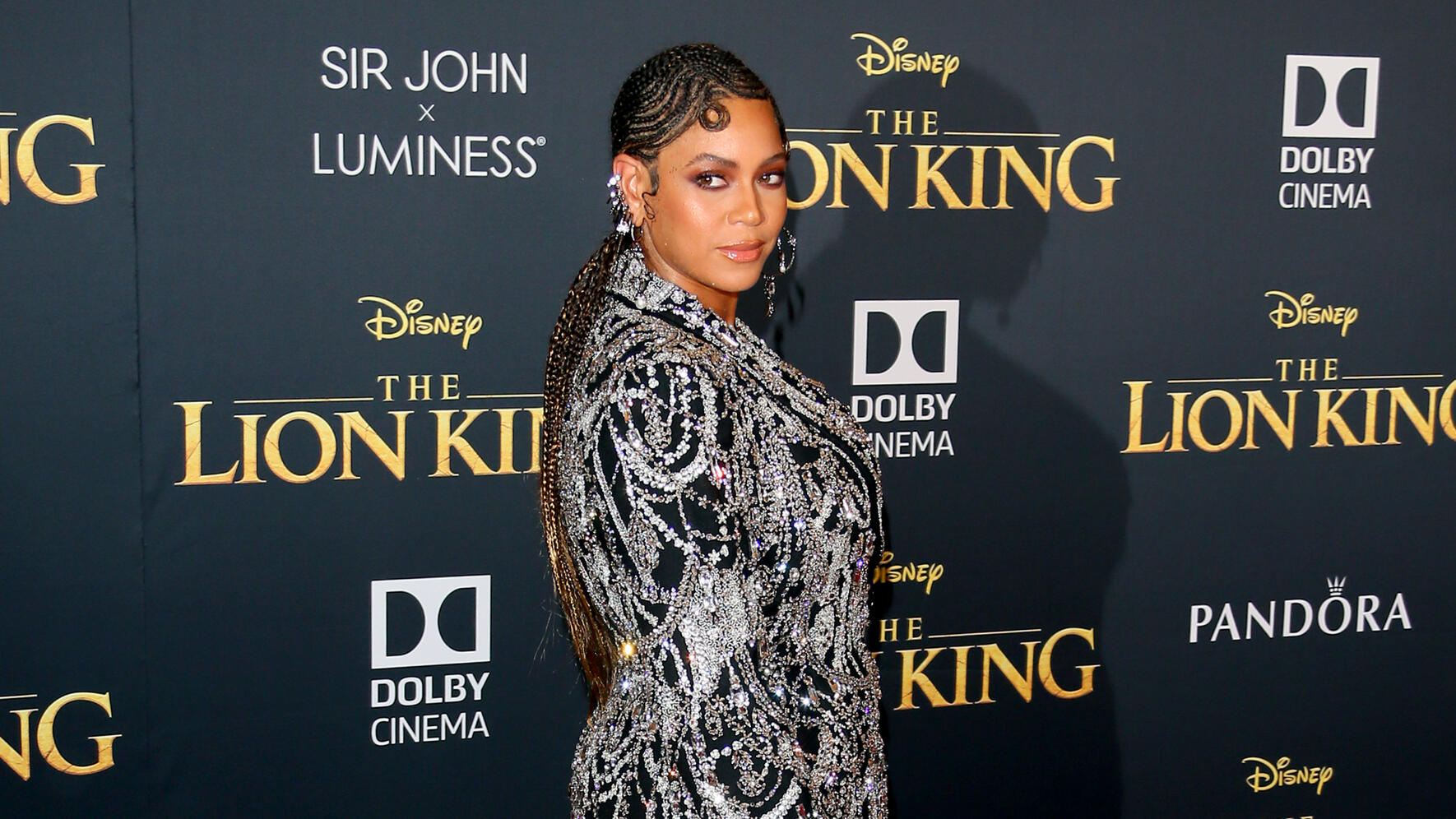 """HOLLYWOOD, CALIFORNIA - JULY 09: Beyoncé attends the premiere of Disney's """"The Lion King"""" at Dolby Theatre on July 09, 2019 in Hollywood, California. (Photo by Jean Baptiste Lacroix/WireImage)"""