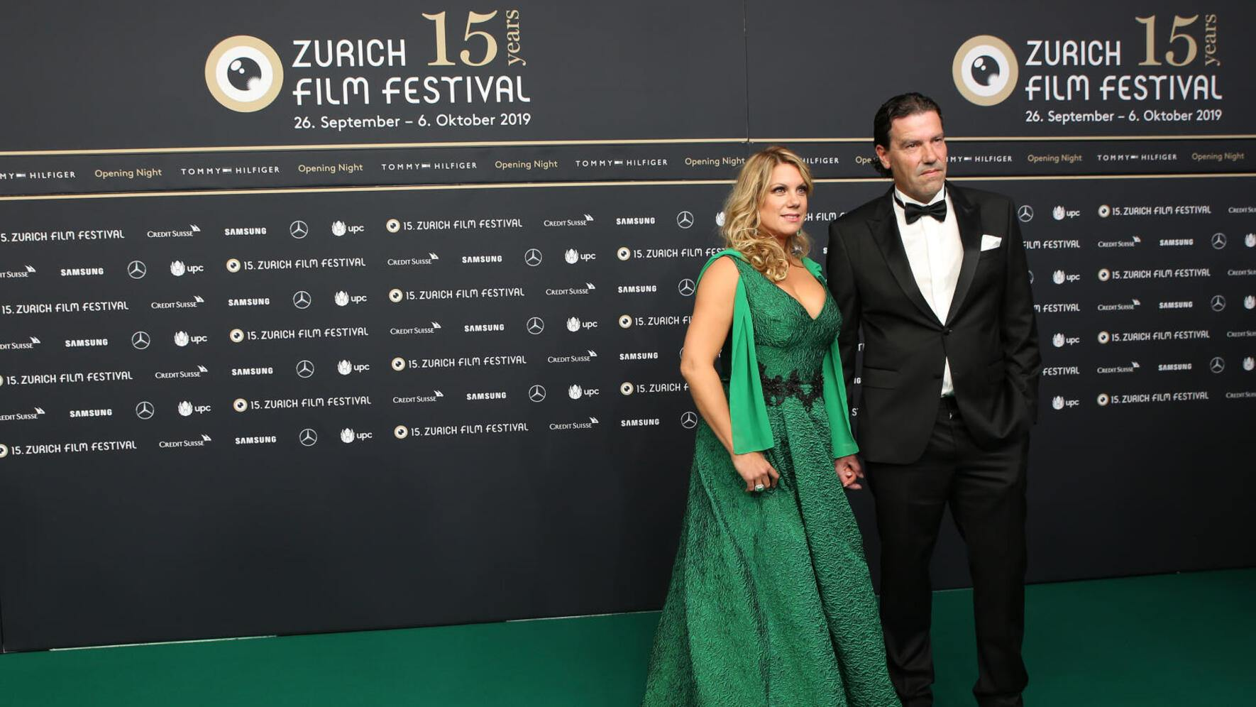 """ZURICH, SWITZERLAND - SEPTEMBER 26: Isabella Schmid and guest attend the opening ceremony and """"Bruno Manser - Die Stimme des Regenwaldes"""" premiere during the 15th Zurich Film Festival at Kino Corso on September 26, 2019 in Zurich, Switzerland. The Zurich Film Festival 2019 takes place from September 26 until October 6. (Photo by Ferda Demir/Getty Images for ZFF)"""