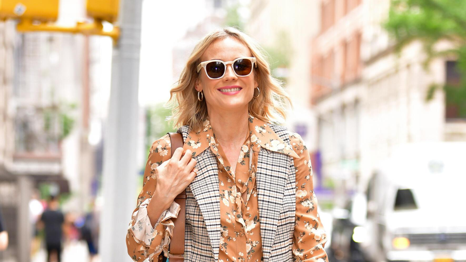 NEW YORK, NY - JULY 18:  Diane Kruger is seen outside the Build Studio on July 18, 2019 in New York City.  (Photo by James Devaney/GC Images)