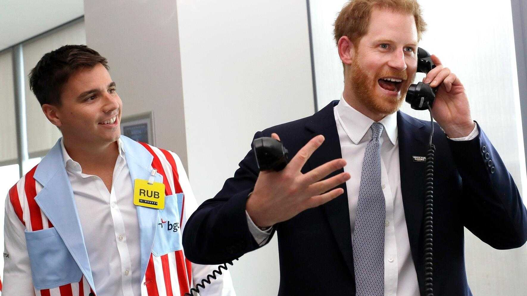 BGUK_1714575 - ** RIGHTS: WORLDWIDE EXCEPT IN FRANCE, UNITED KINGDOM ** London, UNITED KINGDOM  -    Prince Harry, The Duke of Sussex attends the 15th annual BGC Charity Day in Canary Wharf, London, UK, on the 11th September 2019.Pictured: Prince Harry, Duke of SussexBACKGRID UK 11 SEPTEMBER 2019 UK: +44 208 344 2007 / uksales@backgrid.comUSA: +1 310 798 9111 / usasales@backgrid.com*UK Clients - Pictures Containing ChildrenPlease Pixelate Face Prior To Publication*