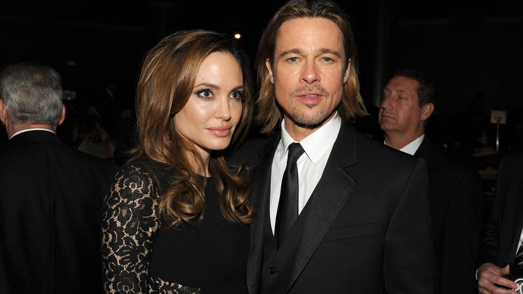 BEVERLY HILLS, CA - JANUARY 21:  Actress/producer Angelina Jolie (L) and actor Brad Pitt attend the 23rd annual Producers Guild Awards at The Beverly Hilton hotel on January 21, 2012 in Beverly Hills, California.  (Photo by Kevin Winter/Getty Images For PGA)