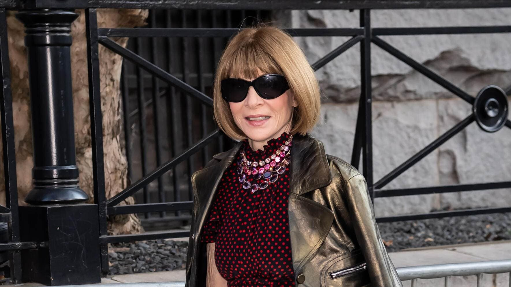 NEW YORK, NEW YORK - SEPTEMBER 11: Anna Wintour is seen arriving to  Marc Jacobs Spring 2020 Fashion Show at Park Avenue Armory during New York Fashion Week on September 11, 2019 in New York City. (Photo by Gilbert Carrasquillo/GC Images)
