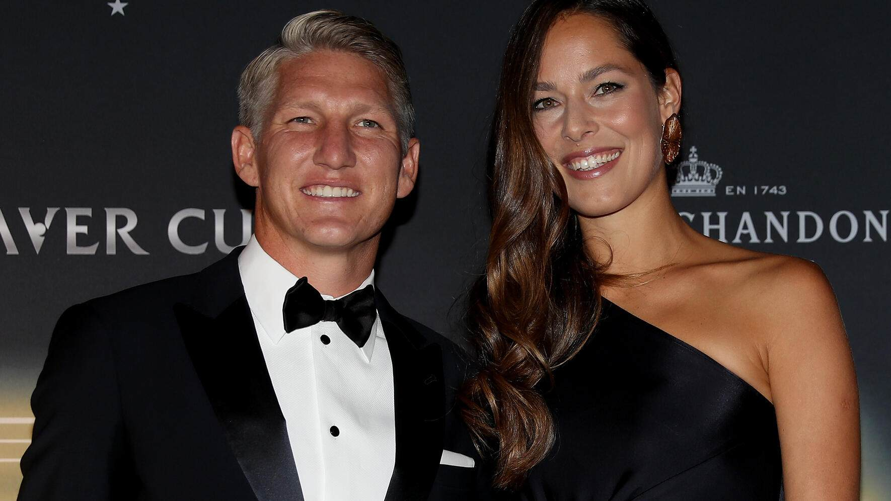 CHICAGO, IL - SEPTEMBER 20:  Bastian Schweinsteiger and Ana Ivanovic of Serbia arrive on the Black Carpet during the Laver Cup Gala at the Navy Pier Ballroom on September 20, 2018 in Chicago, Illinois. The Laver Cup consists of six players from Team World competing against their counterparts from Team Europe. John McEnroe will captain Team World and Team Europe will be captained by Bjorn Borg. The event runs from 21-23 Sept.  (Photo by Matthew Stockman/Getty Images for The Laver Cup)