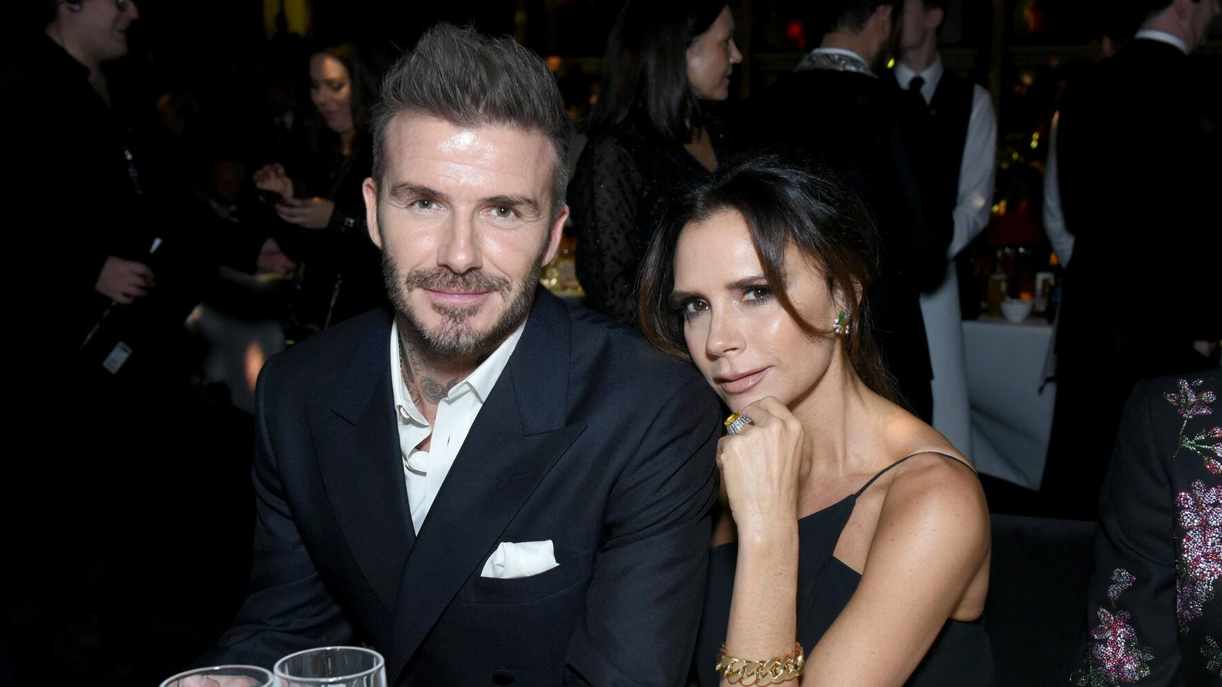 LONDON, ENGLAND - DECEMBER 10:  David Beckham and Victoria Beckham attend The Fashion Awards 2018 In Partnership With Swarovski at Royal Albert Hall on December 10, 2018 in London, England.  (Photo by Joe Maher/BFC/Getty Images)