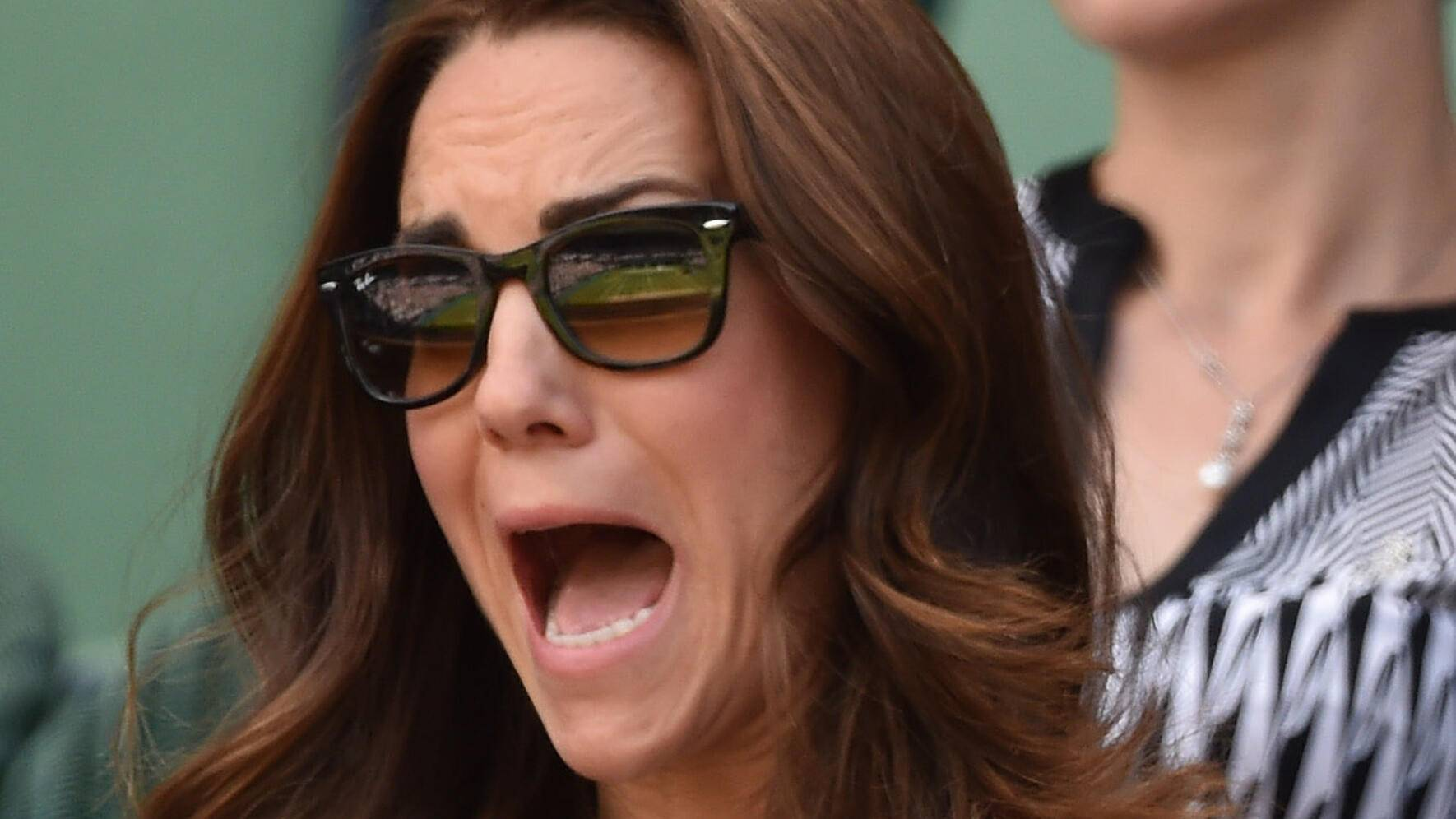 LONDON, ENGLAND - JULY 02:  Catherine, Duchess of Cambridge attends the Simone Halep v Sabine Lisicki match on centre court during day nine of the Wimbledon Championships at Wimbledon on July 2, 2014 in London, England.  (Photo by Karwai Tang/WireImage)