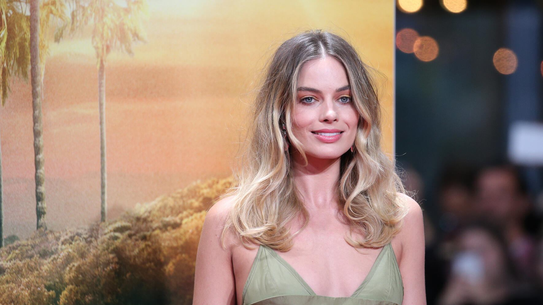 "BERLIN, GERMANY - AUGUST 01: Margot Robbie during the premiere of ""Once Upon A Time... In Hollywood"" at CineStar on August 1, 2019 in Berlin, Germany. (Photo by Gisela Schober/Getty Images)"