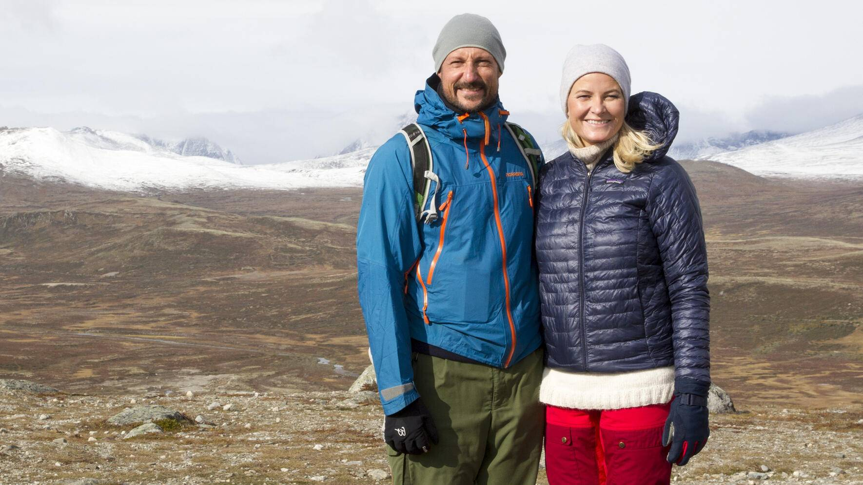 Hjerkinn, 19.09.2019.Crown Prince Haakon and Crown Princess Mette-Marit started their three day Oppland County trip by visit Viewpoint Snøhetta which is in Hjerkinn. The pavilion is a boxed-steel construction, with a large glass surface facing Snøhetta to the north, and an organic, undulating wooden shape to the south....Viewpoint Snøhetta.Mandatory Credit  © Aasta Børte 2019.Distributed by nunn-syndication.com