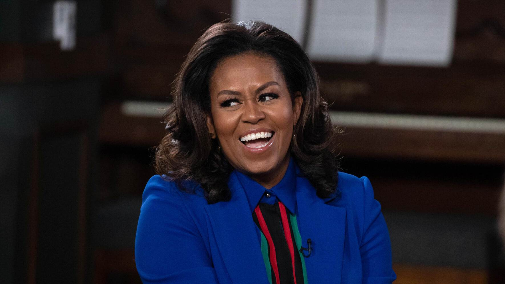 Mandatory Credit: Photo by Suzanne Cordeiro/REX/Shutterstock (10124087k)Michelle Obama joins the new YouTube Original learning special 'BookTube' to discuss her best-selling memoir 'Becoming' with a panel of YouTube Creators, including John Green, Jouelzy, Ariel Bissett, Kat O'Keeffe, Jesse George and Franchesca Ramsey.Michelle Obama 'Becoming' book discussion, Austin, USA - 28 Feb 2019