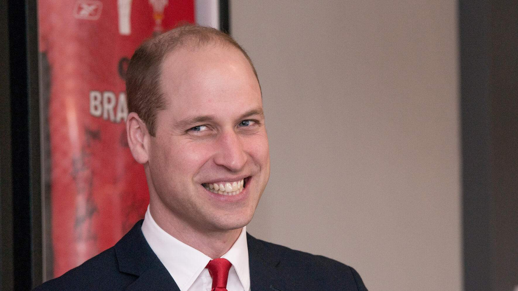 CARDIFF, WALES - MARCH 16:  Prince William, Duke of Cambridge officially opens Brains Brewery, before attending the Wales vs Ireland Six Nations Match on March 16, 2019 in Cardiff, Wales. The Duke of Cambridge is Patron of the Welsh Rugby Union (WRU). (Photo by Richard Stonehouse - WPA Pool/Getty Images)