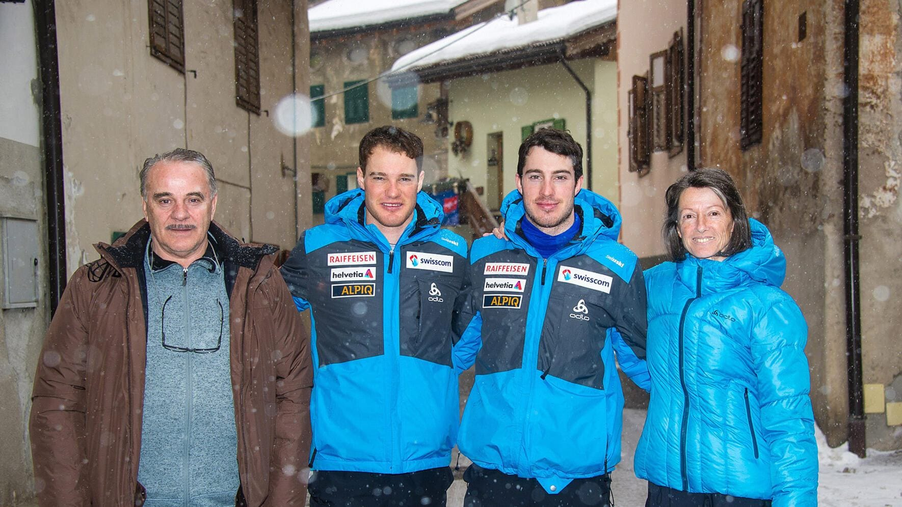 Dario Cologna Weltmeister mit Familie