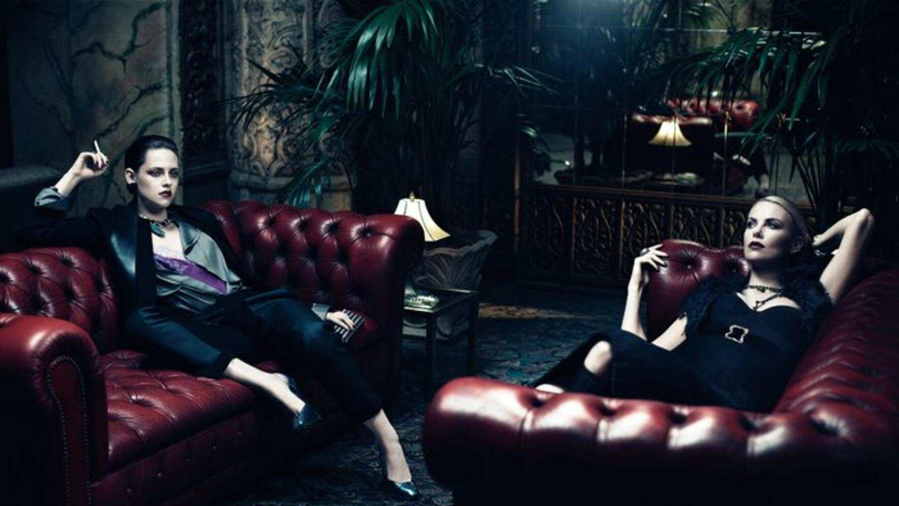 Kristen Stewart Charlize Theron Photoshoot Interview Magazine Sofas
