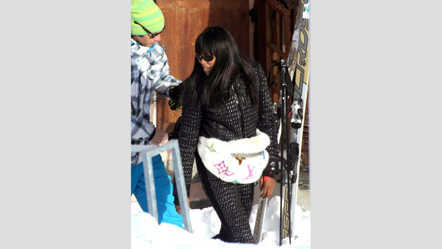 Naomi Campbell in St. Moritz 2010