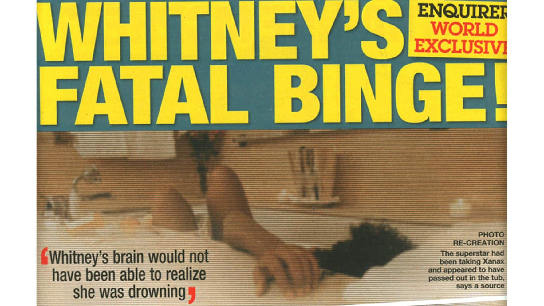 National Enquirer Whitney Houston tot Schauspielerin Foto