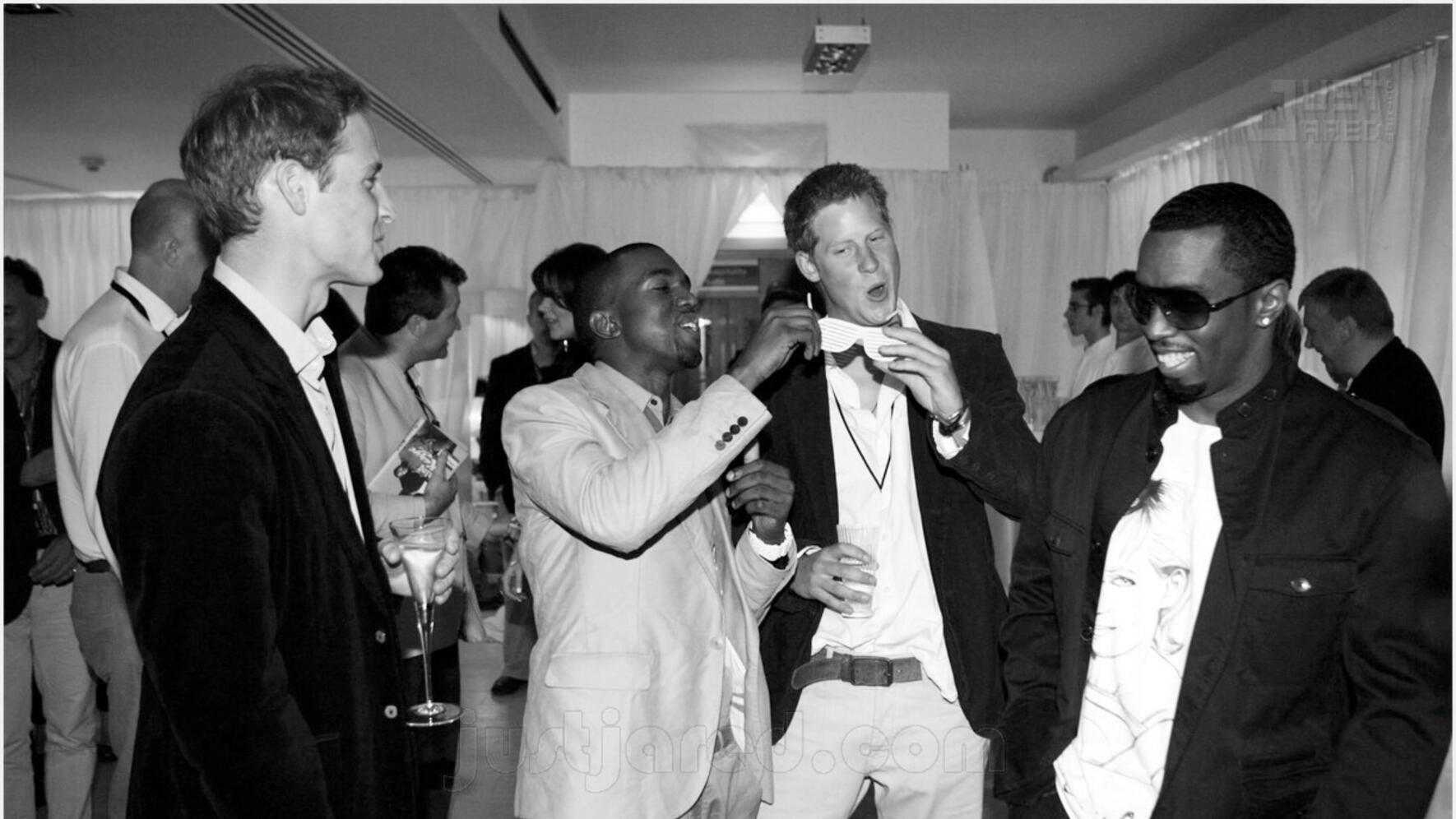 Awesome People Hanging Out Together Kanye West Prinz William Prinz Harry P Diddy