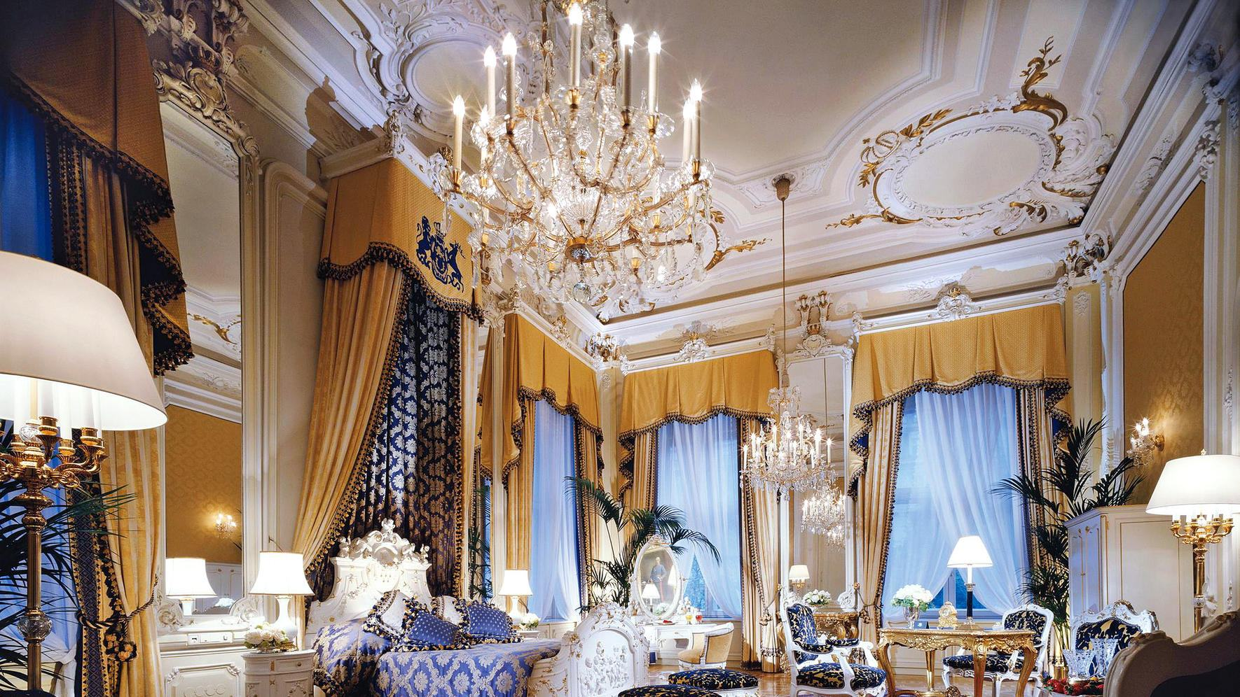 Märchenhaft: Die «Royal Suite Bedroom» des Luxury Collection Hotels Imperial Vienna.
