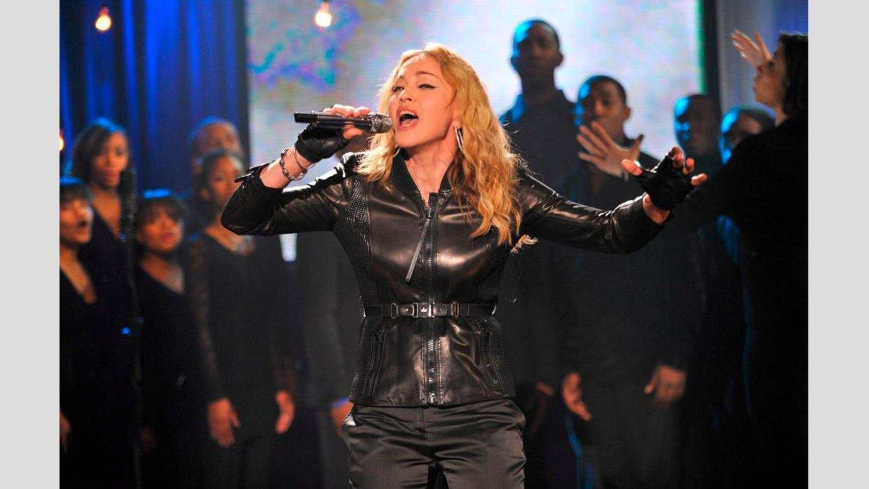Madonna am Benefiz-Konzert Hope for Haiti.