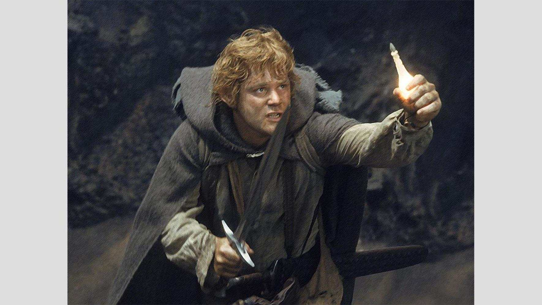 """Sean Astin als Samwise Gamgee in Peter Jackson's """"The Lord of the Rings"""" Trilogie"""