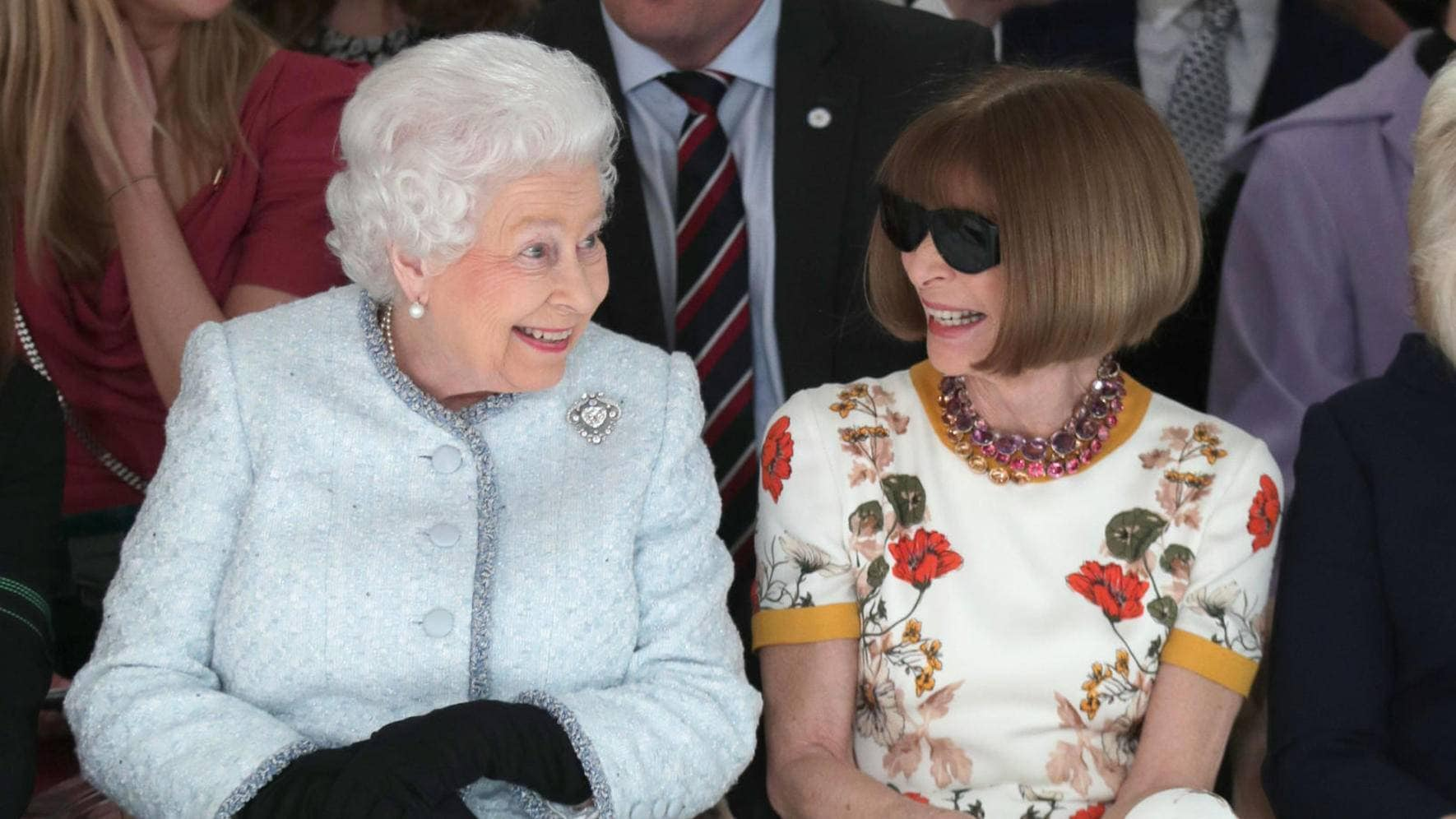 Queen Elizabeth Anna Wintour London Fashion Week 2018
