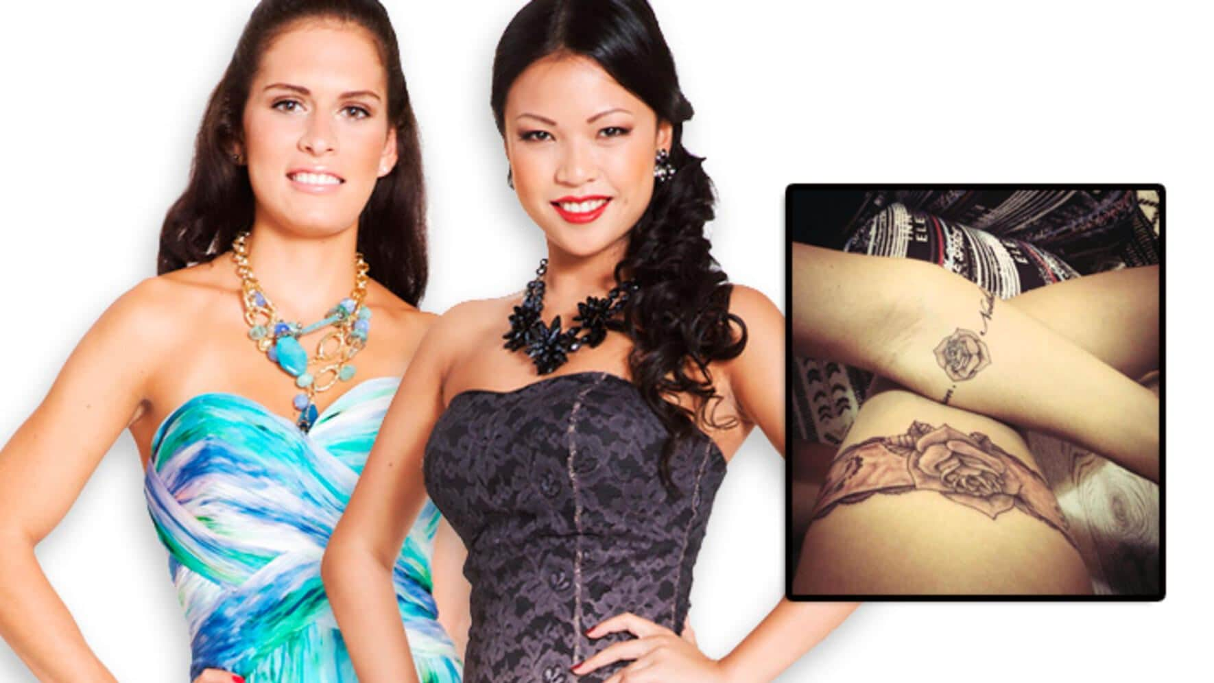 Bachelor 2014 Kandidatinnen und Thania Tattoos