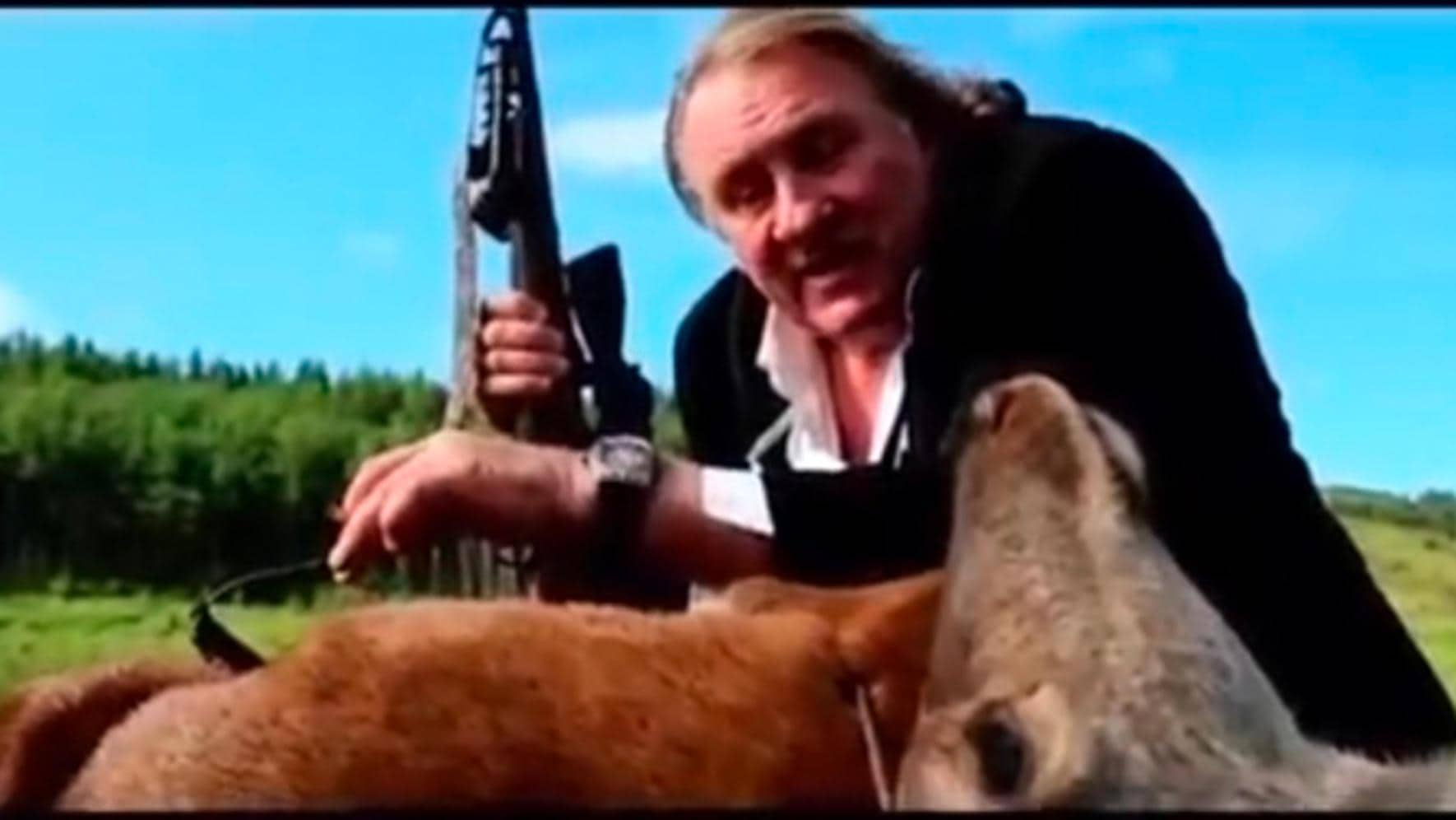 Gérard Depardieu (Bilder) Werbung Cvstos Proud to be Russian