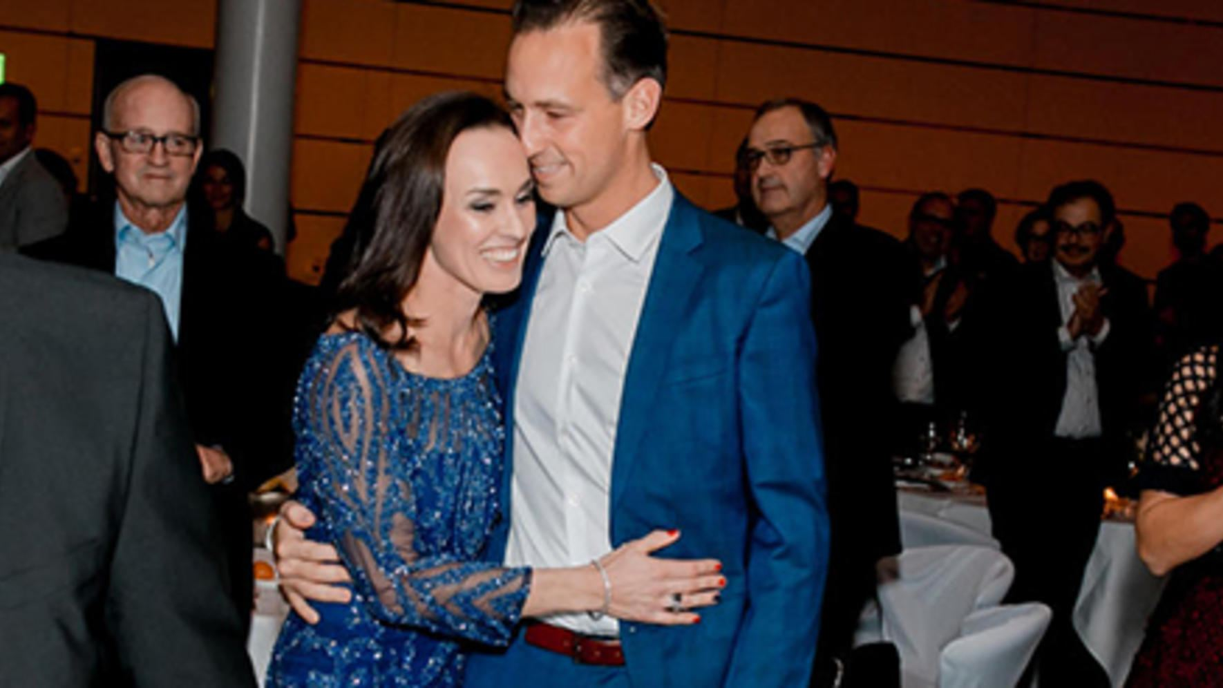 Martina Hingis und Partner Harry Leemann