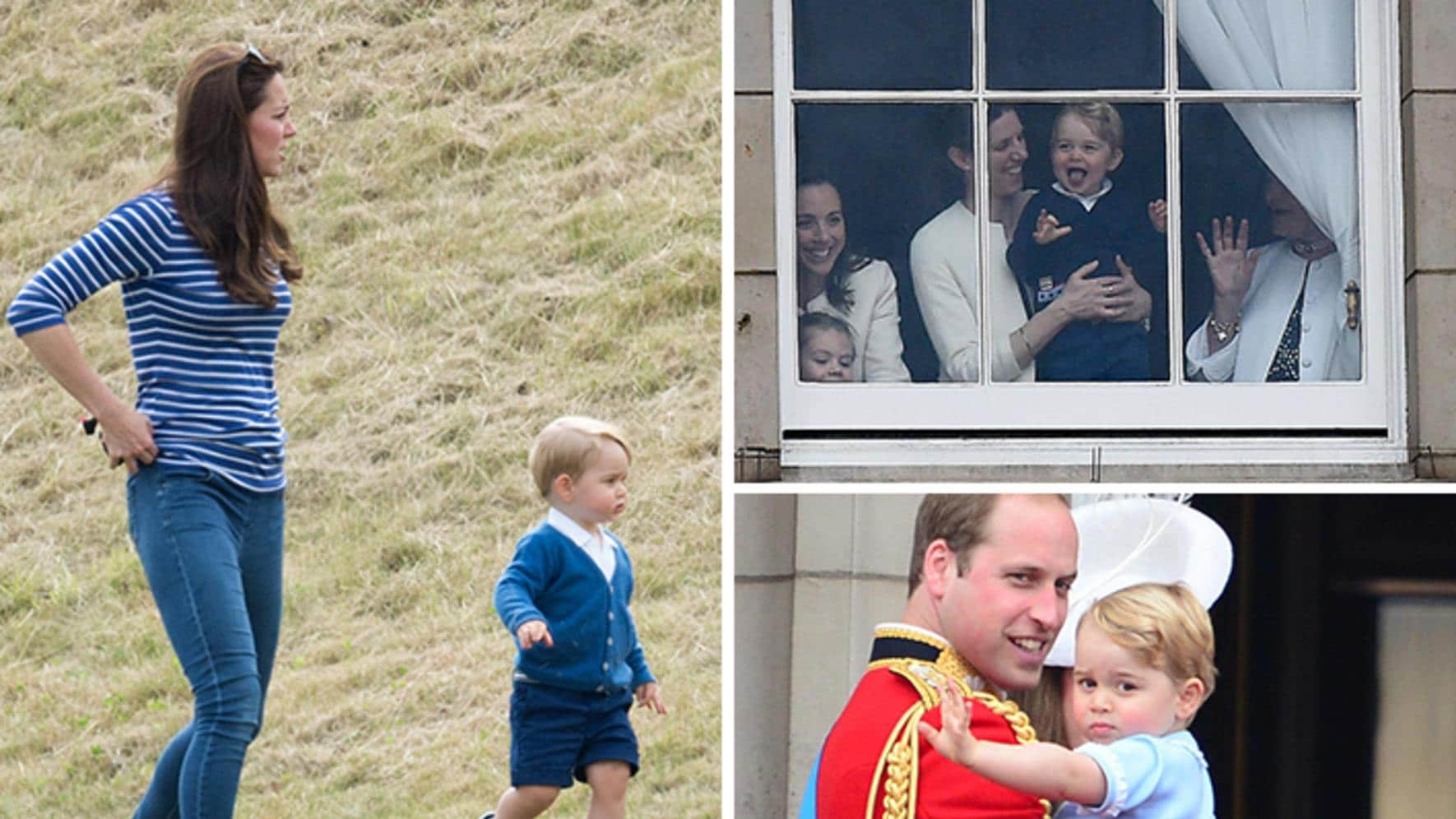 Prinz George (England) läuft, Polo-Match, Trooping of the Colours