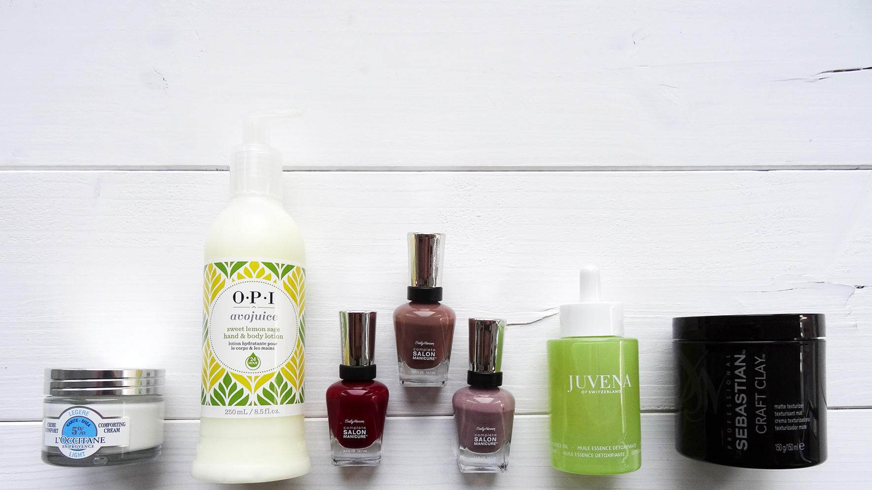 Beauty News L'Occitane OPI Sally Hansen Juvena Sebastian