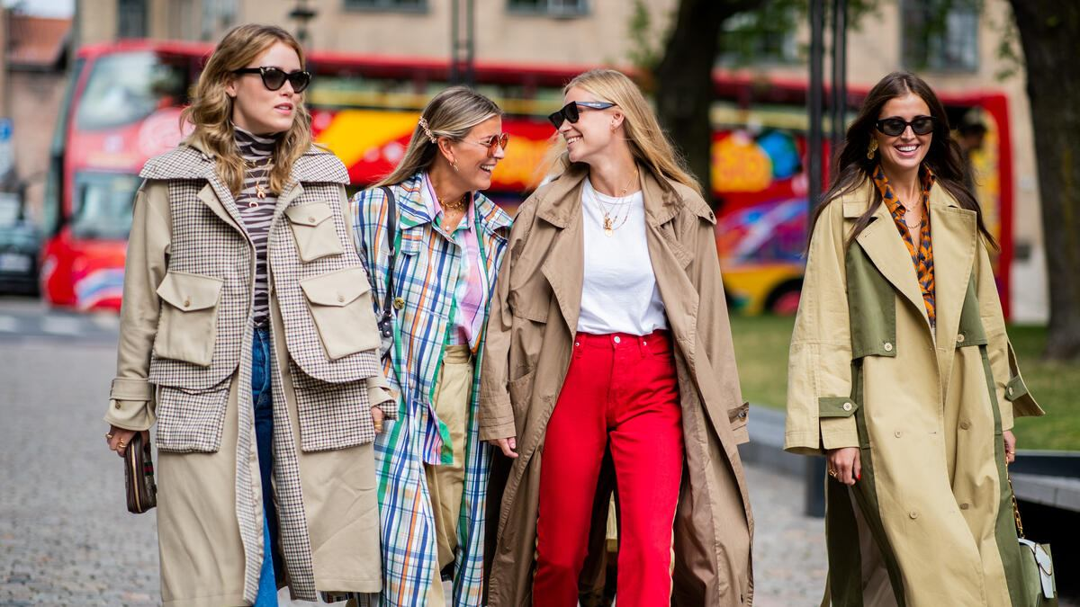 OSLO, NORWAY - AUGUST 14: Annabel Rosendahl, Janka Polliani, Tine Andrea, Darja Barannik seen outside Cathrine Hammel during Oslo Runway SS19 on August 14, 2018 in Oslo, Norway. (Photo by Christian Vierig/Getty Images)