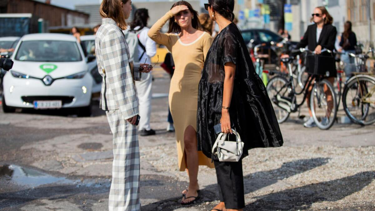 COPENHAGEN, DENMARK - AUGUST 08: Guests seen outside Baum und Pferdgarten during Copenhagen Fashion Week Spring/Summer 2020 on August 08, 2019 in Copenhagen, Denmark. (Photo by Christian Vierig/Getty Images)