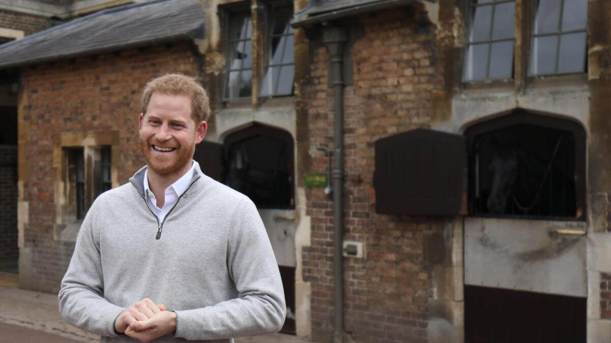 06/05/2019. Windsor, United Kingdom: Prince Harry, The Duke of Sussex, speaking at Windsor Castle, United Kingdom, after his wife Meghan Markle, gave birth to a baby boy weighing 7lbs 3oz. ( i-Images / Polaris) (FOTO:DUKAS/POLARIS)