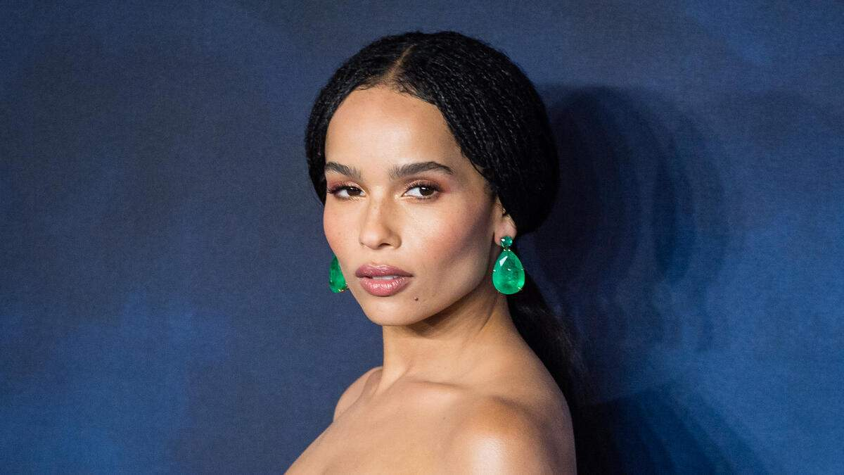"""LONDON, ENGLAND - NOVEMBER 13:  Zoe Kravitz  attends the UK Premiere of """"Fantastic Beasts: The Crimes Of Grindelwald"""" at Cineworld Leicester Square on November 13, 2018 in London, England.  (Photo by Samir Hussein/WireImage)"""