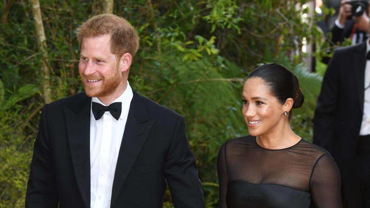 Disney s The Lion King European Premiere - London The Duke and Duchess of Sussex arriving at the European Premiere of The Lion King, Odeon Cinema, Leicester Square, London. Photo credit should read: Doug Peters/EMPICS PUBLICATIONxINxGERxSUIxAUTxONLY Copyright: xDougxPetersx 44112341