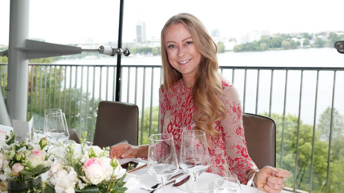 HAMBURG, GERMANY - JUNE 04: Jenny Elvers during the Society Relations Ladies Lunch at Le Meridien on June 4, 2019 in Hamburg, Germany. (Photo by Franziska Krug/Getty Images for Society Relations)
