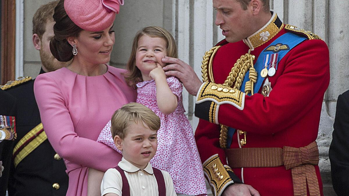 Prinz William mit Familie Trooping the Colour