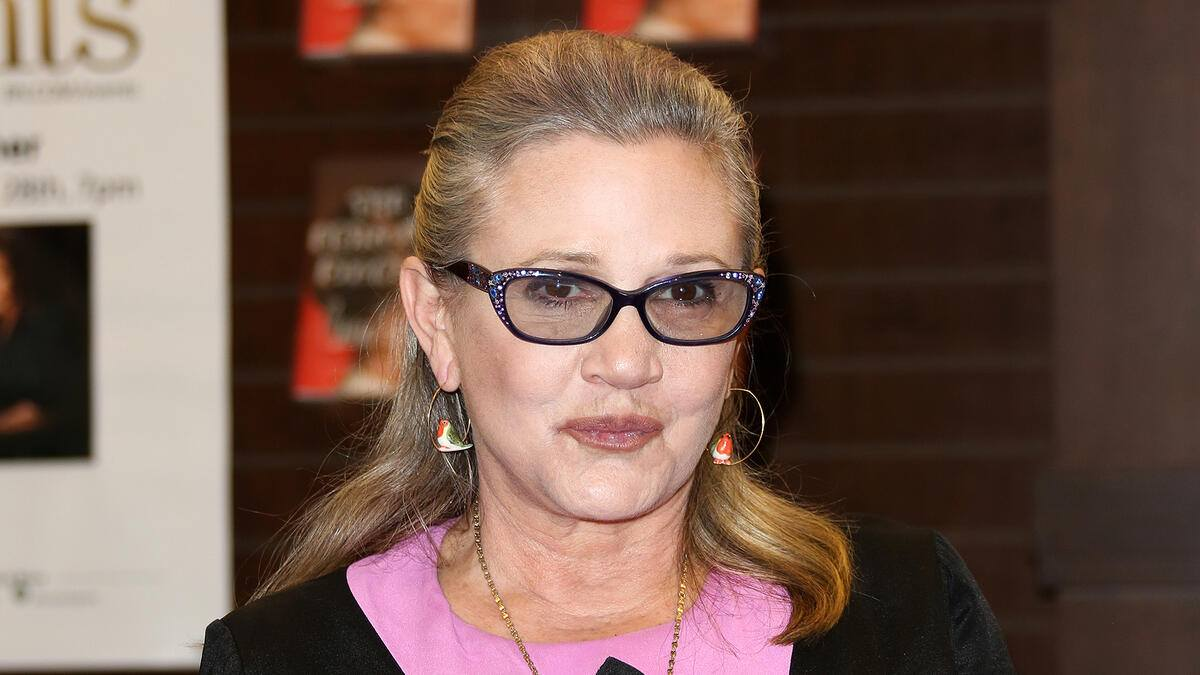 Carrie Fisher heart attack filme Herzinfarkt Tochter Alter