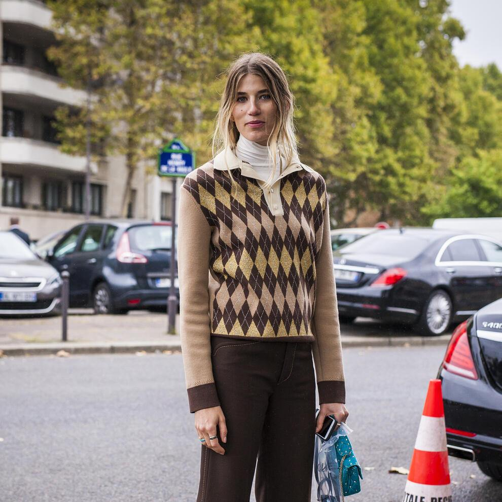 PARIS, FRANCE - OCTOBER 01:  Veronika Heilbrunner is seen before the Celine show during Paris Fashion Week Womenswear SS18 on October 1, 2017 in Paris, France.  (Photo by Claudio Lavenia/Getty Images)