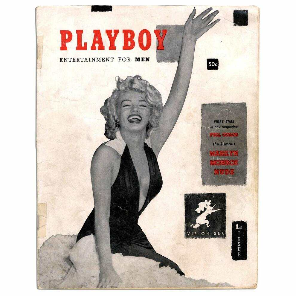 Erstes Plyboy Cover mit Marilyn Monroe