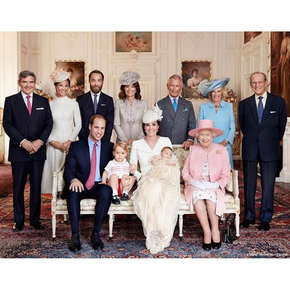 Prinzessin Charlotte Taufe Bilder Fotos George William Kate Middleton Mario Testino