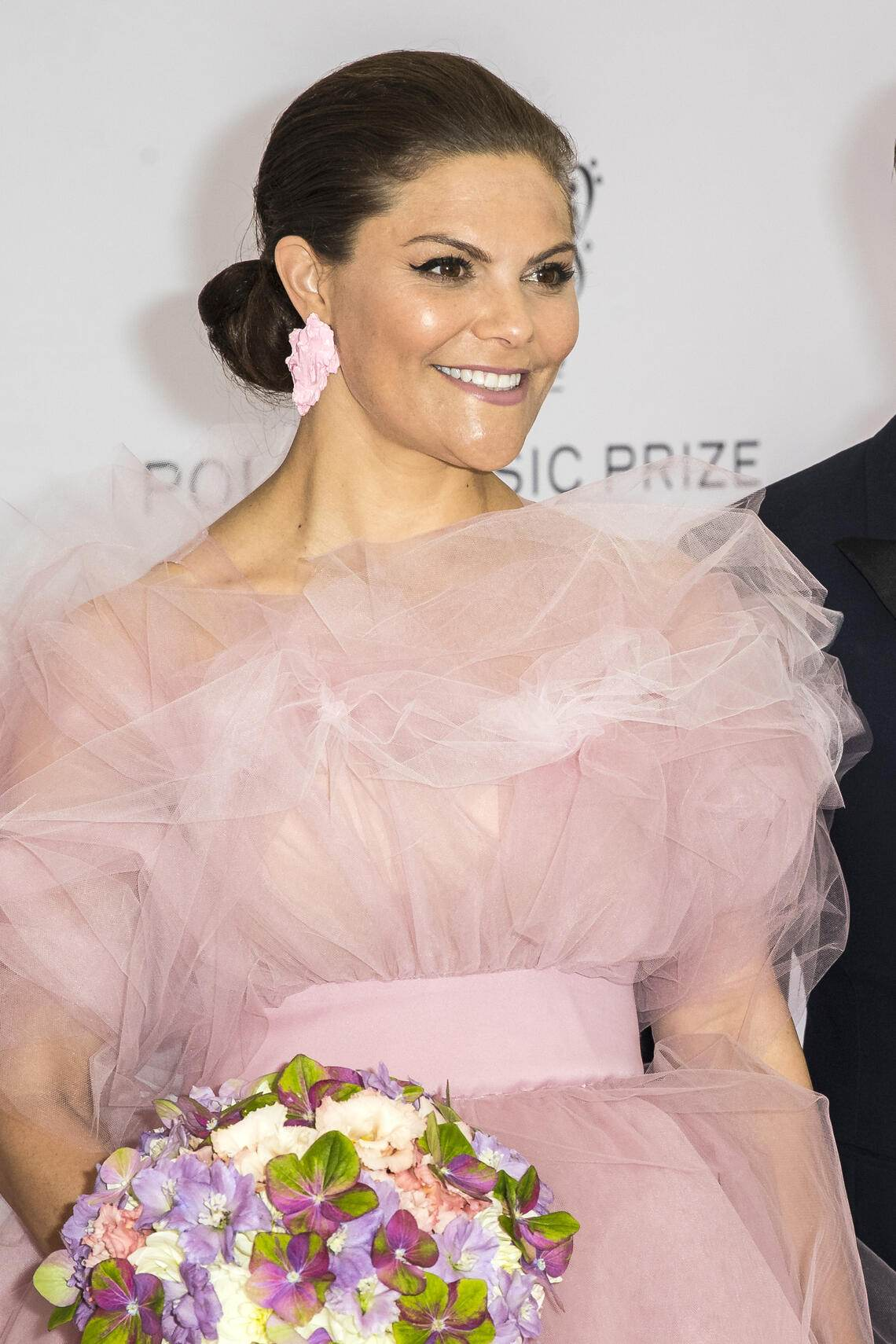 STOCKHOLM, SWEDEN - JUNE 11: Crown Princess Victoria of Sweden poses on the red carpet during the 2019 Polar Music Prize award ceremony  on June 11, 2019 in Stockholm, Sweden. (Photo by Michael Campanella/Getty Images)