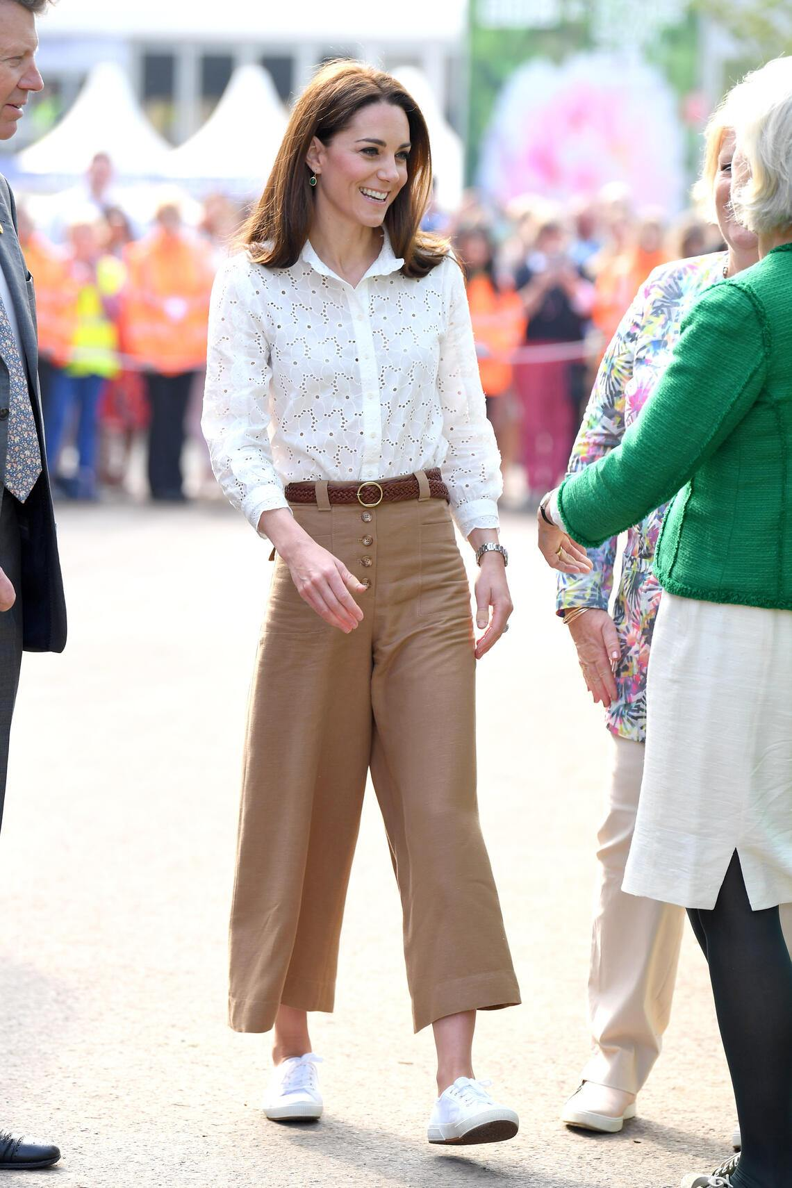 LONDON, ENGLAND - MAY 20: Catherine, Duchess of Cambridge attends her Back to Nature Garden at the RHS Chelsea Flower Show 2019 press day at Chelsea Flower Show on May 20, 2019 in London, England. (Photo by Karwai Tang/WireImage)
