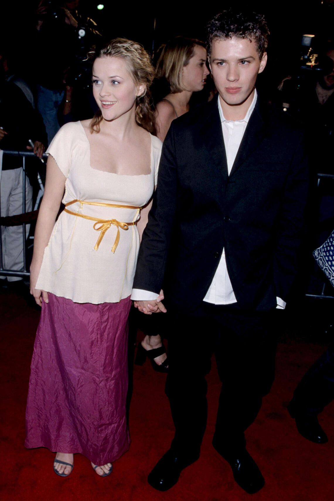 Ryan Phillippe and Reese Witherspoon during Cruel Intentions Premiere at Mann Village Theatre in Westwood, California, United States. (Photo by S. Granitz/WireImage)