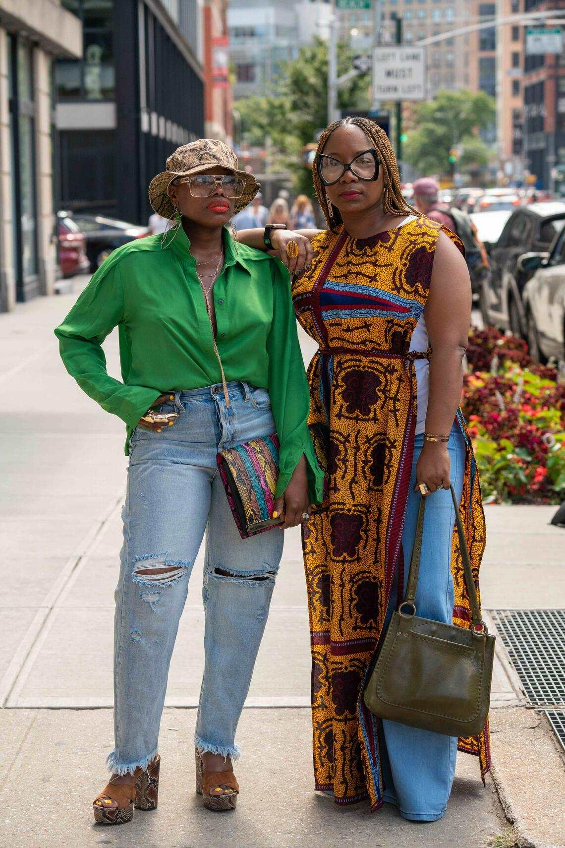 NEW YORK, NY - SEPTEMBER 08: Medgine Williams (L) and Natea Williams founders of Pardon Our Style at Spring Studios on September 8, 2019 in New York City. (Photo by David Dee Delgado/Getty Images)
