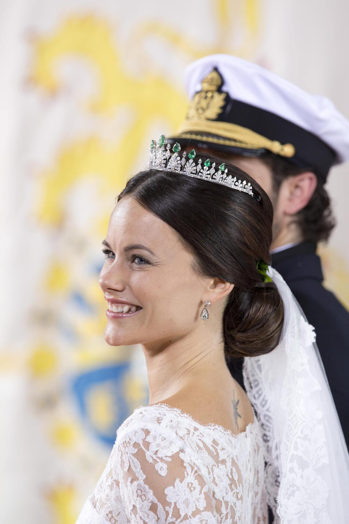 STOCKHOLM, SWEDEN - JUNE 13:    Prince Carl Philip of Sweden, and Princess Sofia of Sweden,leave their wedding ceremony at the Royal Chapel at the Royal Palace on June 13, 2015 in Stockholm, Sweden.  (Photo by Julian Parker/UK Press via Getty Images)