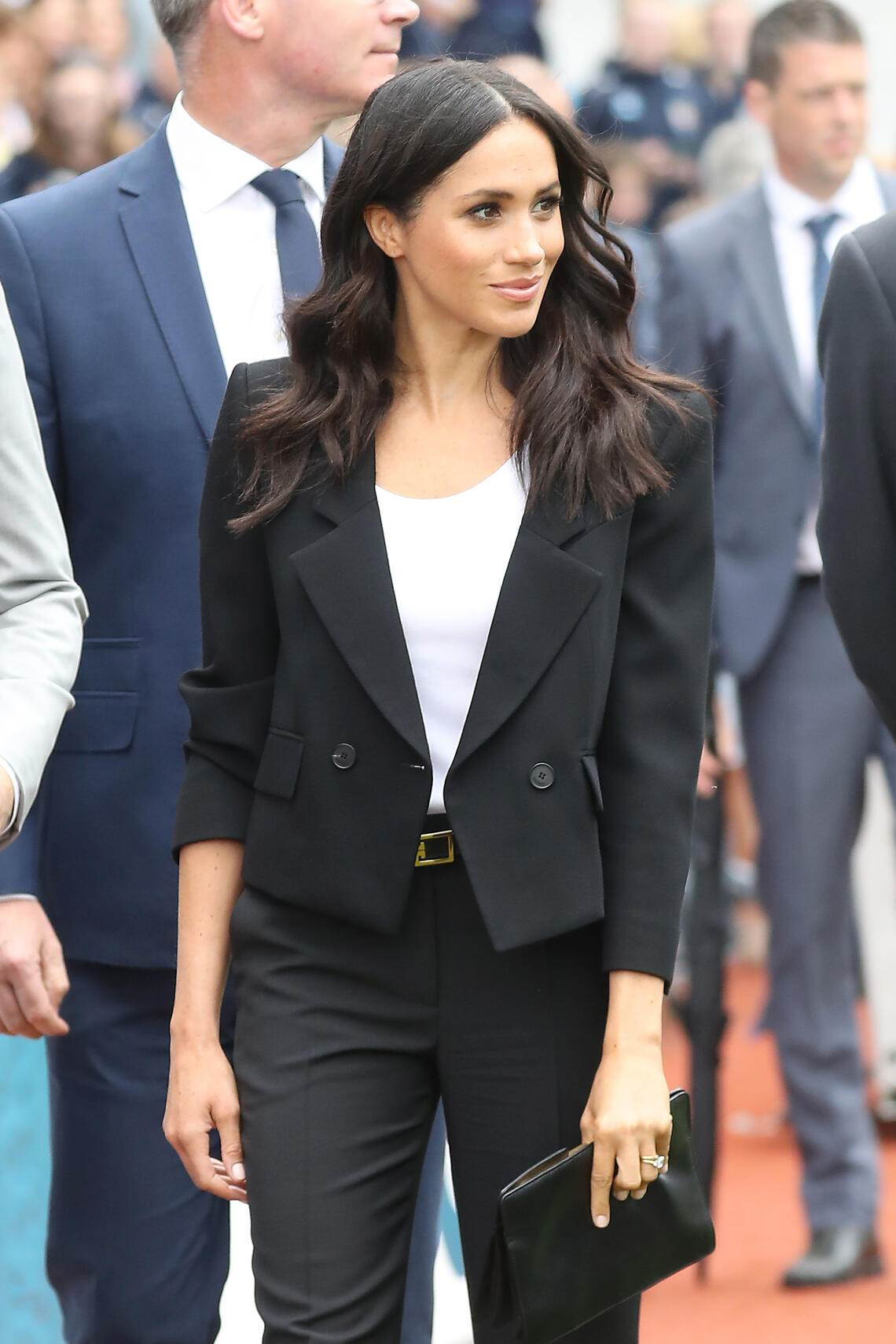 DUBLIN, IRELAND - JULY 11:  Meghan, Duchess of Sussex visits Croke Park, home of Ireland's largest sporting organisation, the Gaelic Athletic Association, with Prince Harry, Duke of Sussex during their visit to Ireland on July 11, 2018 in Dublin, Ireland.  (Photo by Chris Jackson/Getty Images)