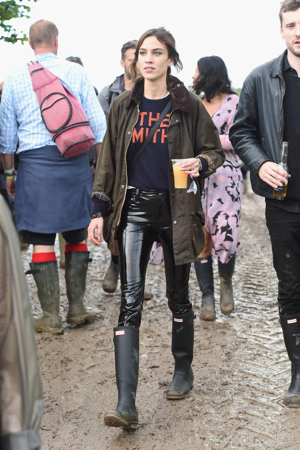 GLASTONBURY, ENGLAND - JUNE 24:  Alexa Chung attends day 1 of Glastonbury Festival on June 24, 2016 in Glastonbury, England.  (Photo by David M. Benett/Getty Images)