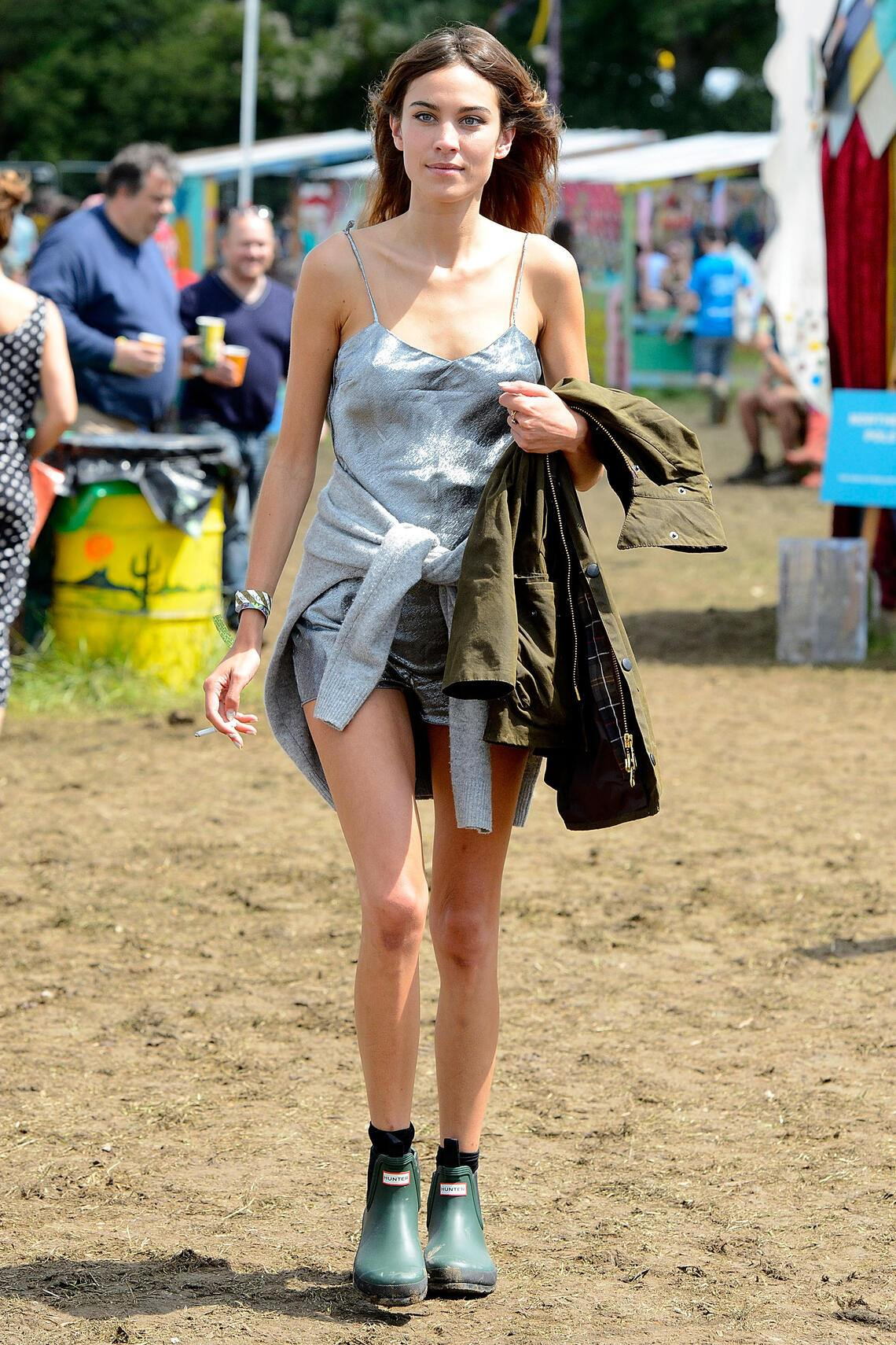 GLASTONBURY, ENGLAND - JUNE 29:  Alexa Chung attends the Glastonbury Festival at Worthy Farm on June 29, 2014 in Glastonbury, England.  (Photo by Danny Martindale/GC Images)